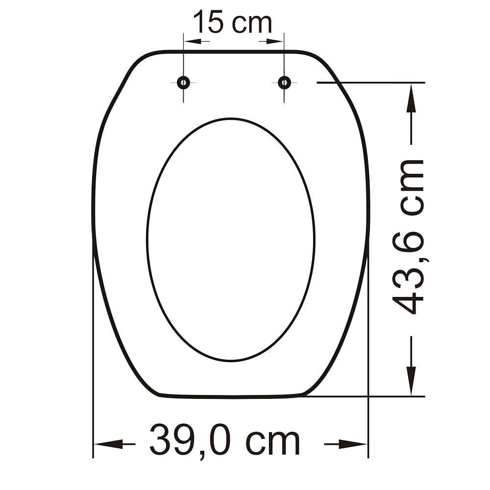 Assento em Polipropileno para Louça Thema Preto Soft Close  - Comercial Tuan Materiais para Construção