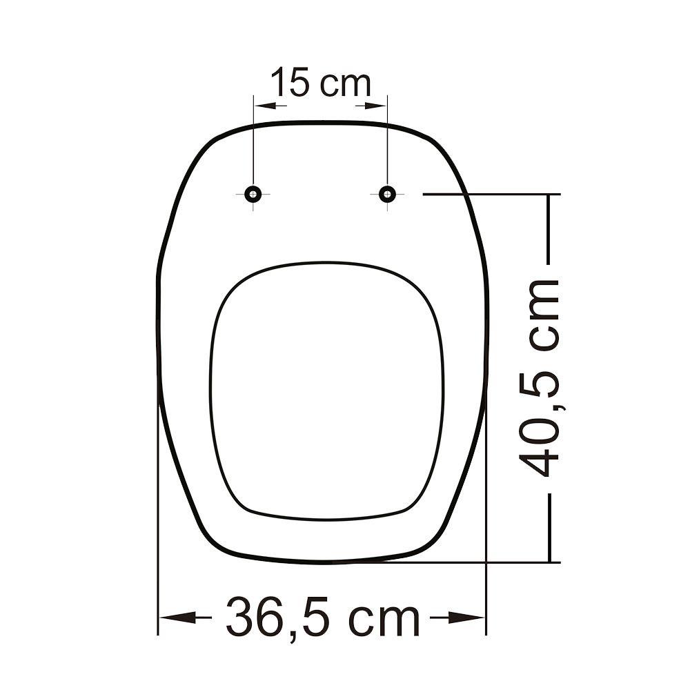 Assento em Resina Termofixa para as Louças Fit/Versato/Savary Branco  - Comercial Tuan Materiais para Construção