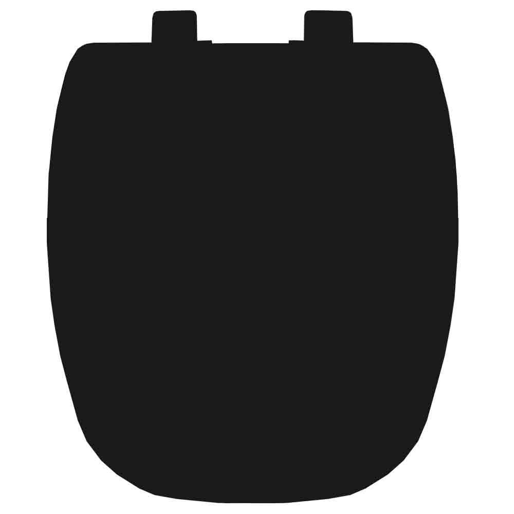 Assento em Resina Termofixa para as Louças Fit/Versato/Savary Preto  Soft Close  - Comercial Tuan Materiais para Construção