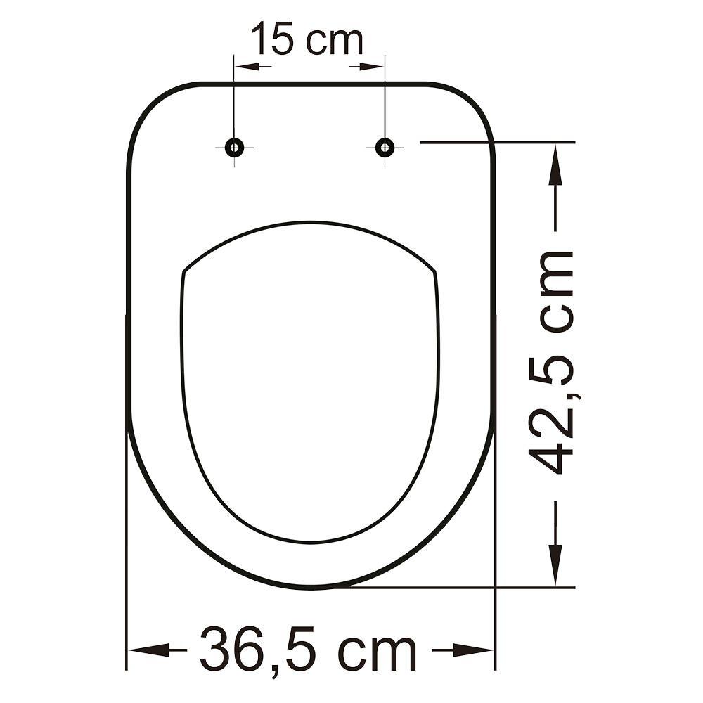 Assento em Resina Termofixa para as Louças Riviera/Smart/Nexo Cinza Prata  - Comercial Tuan Materiais para Construção