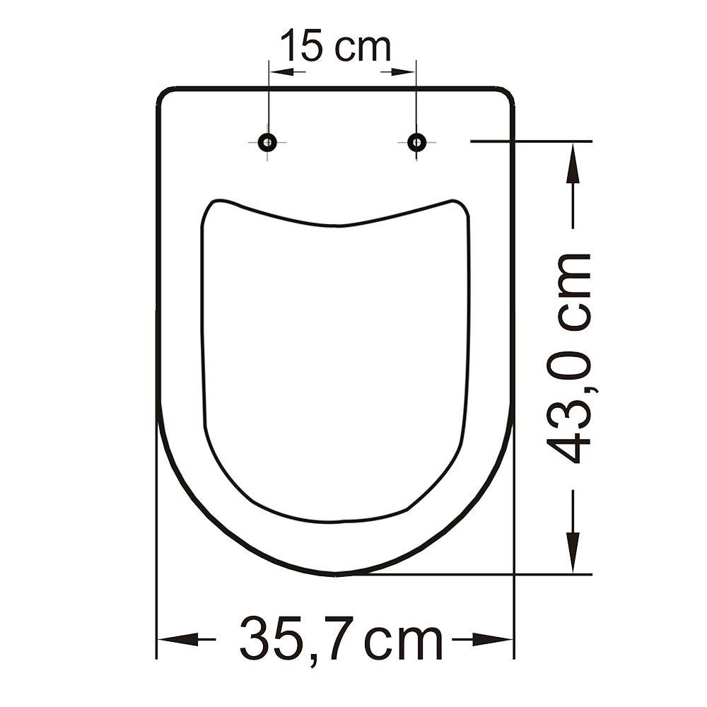 Assento em Resina Termofixa para as Louças Vogue Plus/ Life/ Flox/ Square Pergamont  - Comercial Tuan Materiais para Construção