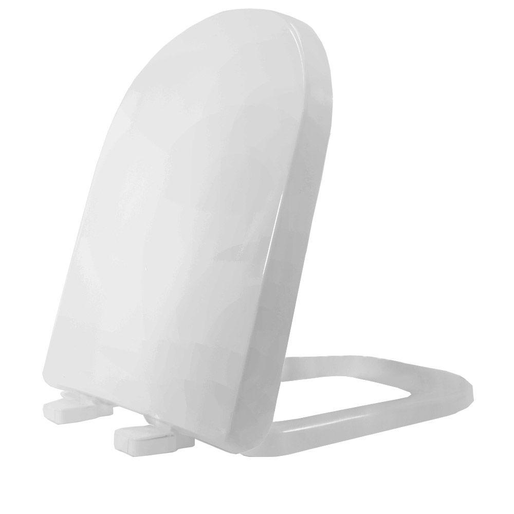 Assento em Resina Termofixa para as Louças Vogue Plus/ Life/ Flox/ Square  Soft Close Cinza Real  - Comercial Tuan Materiais para Construção