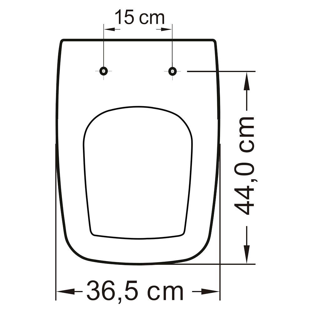 Assento em Resina Termofixa para Louça Boss Branco  - Comercial Tuan Materiais para Construção