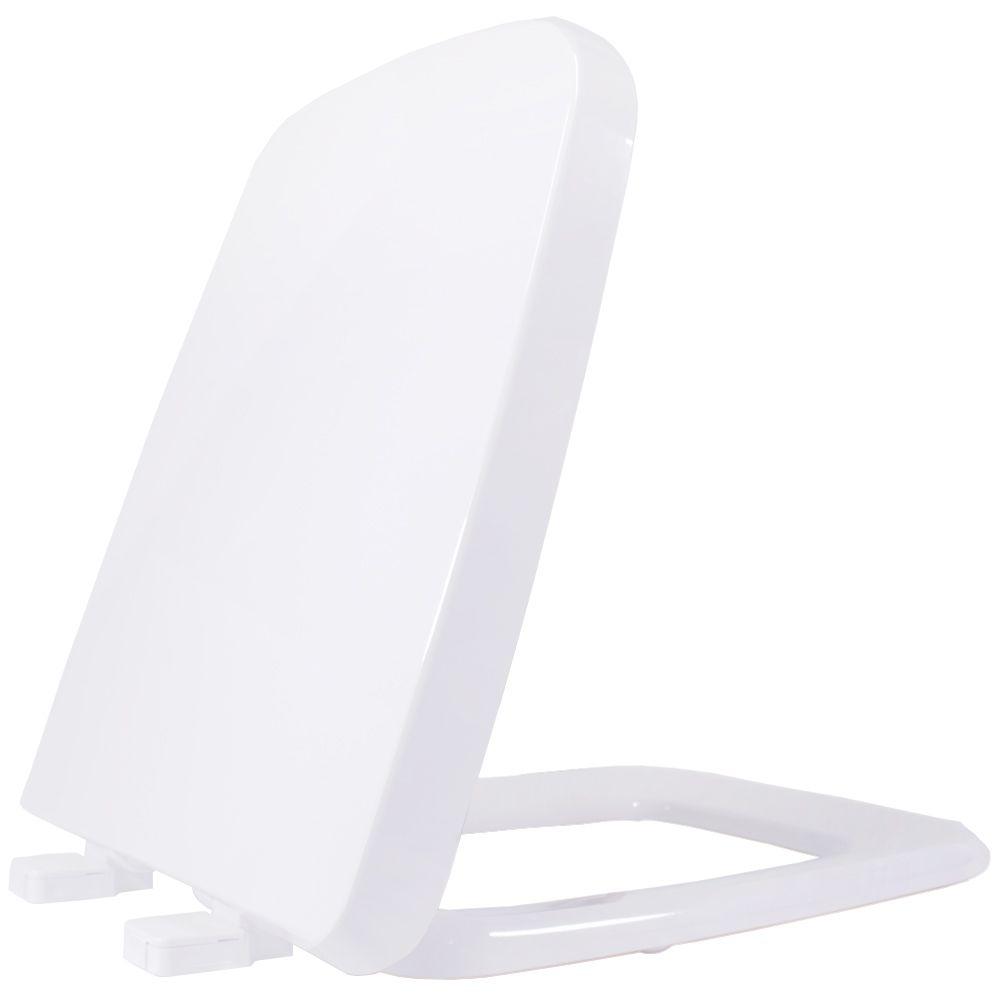 Assento em Resina Termofixa para Louça Boss Branco Soft Close  - Comercial Tuan Materiais para Construção