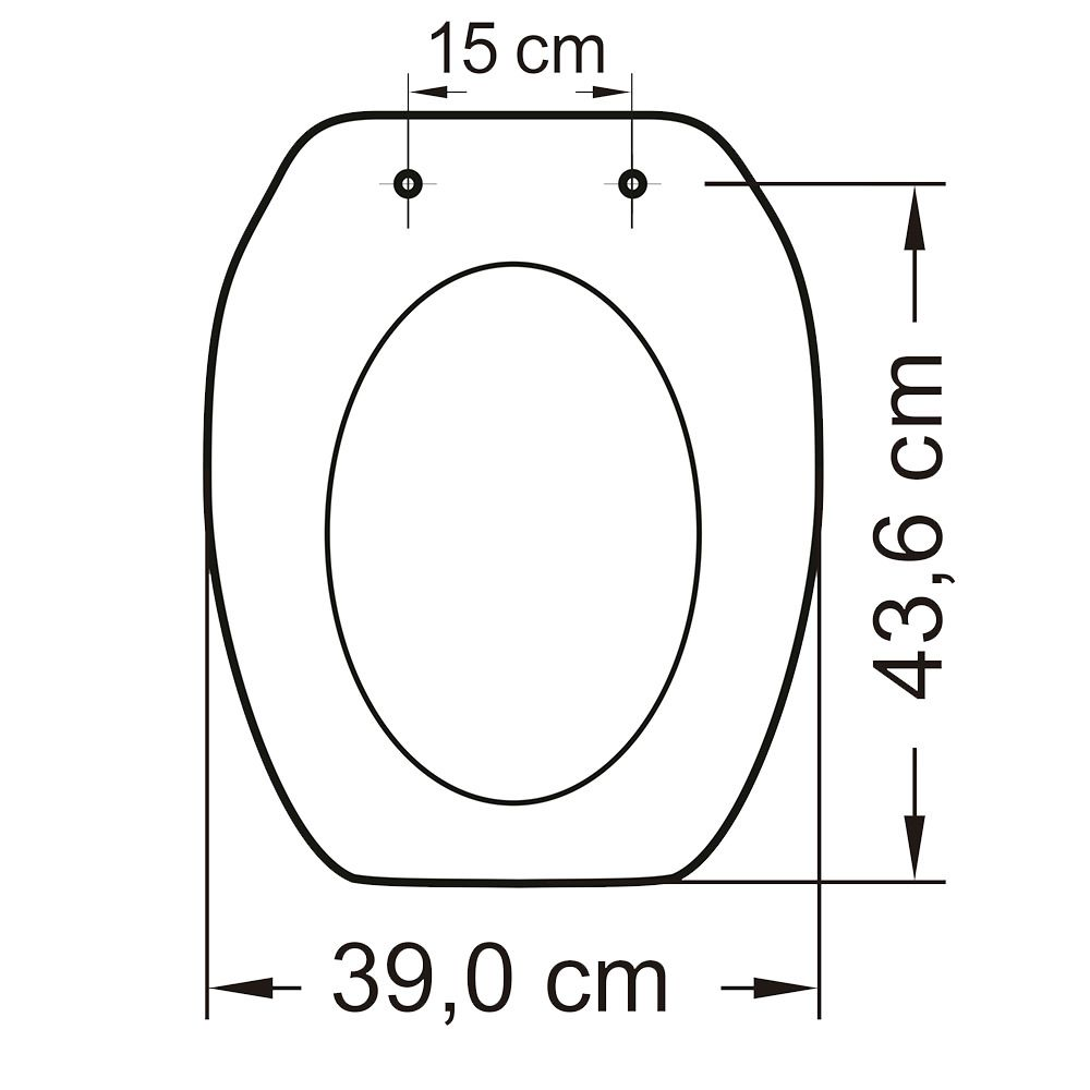 Assento em Resina Termofixa para Louça Thema Branco  - Comercial Tuan Materiais para Construção