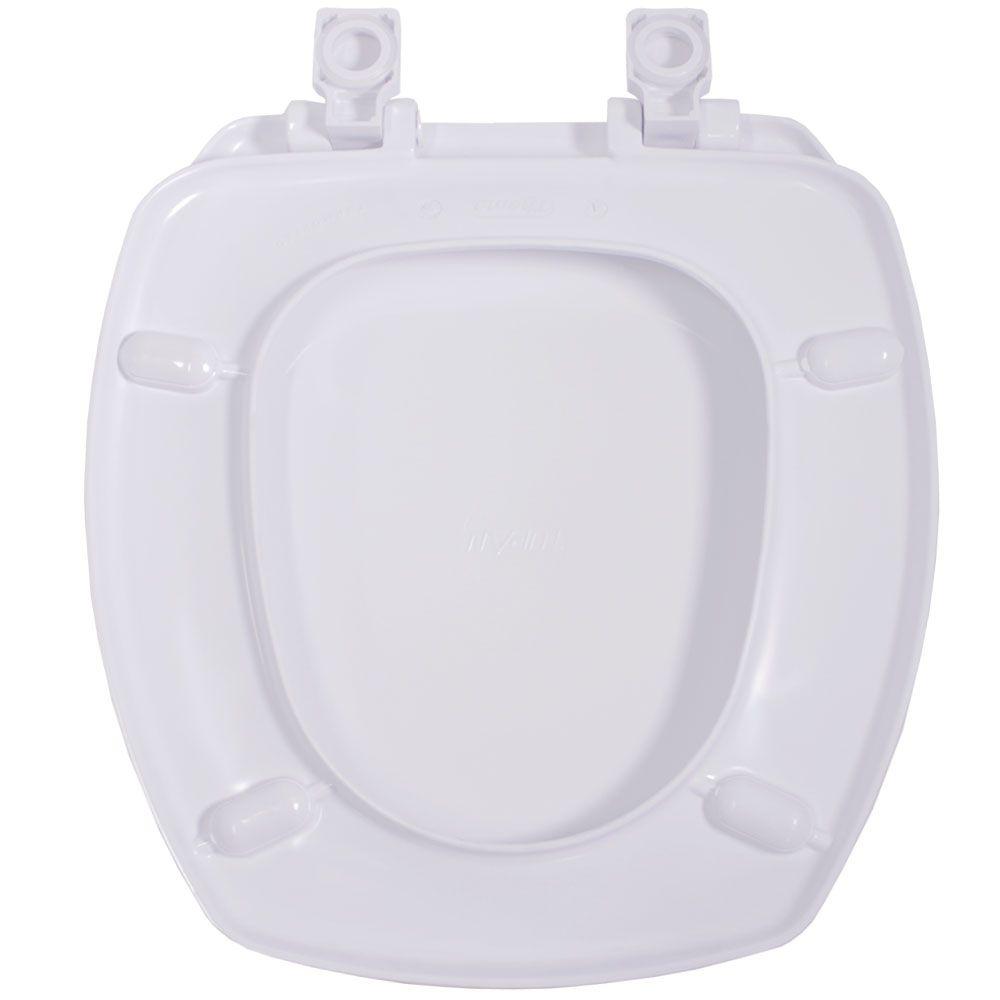 Assento em Resina Termofixa para Louça Thema Branco Soft Close  - Comercial Tuan Materiais para Construção