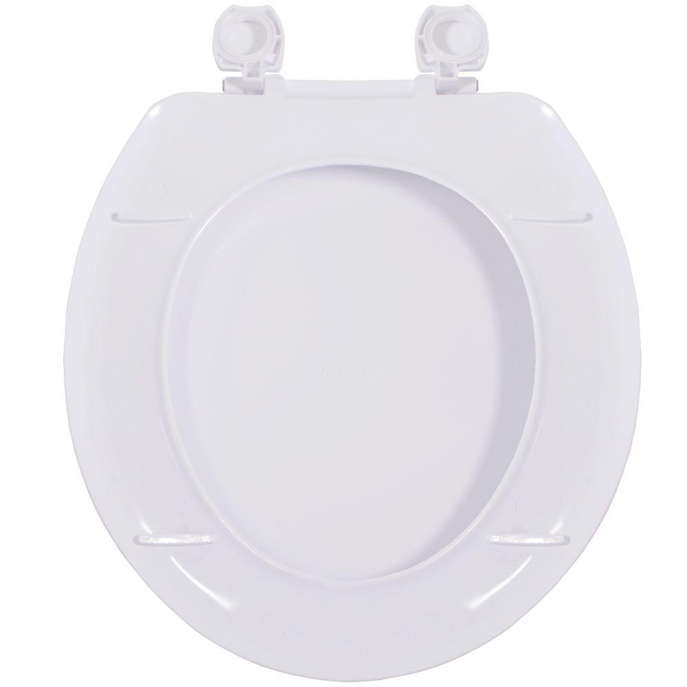 Assento Oval em Polipropileno Apolo Branco  - Comercial Tuan Materiais para Construção