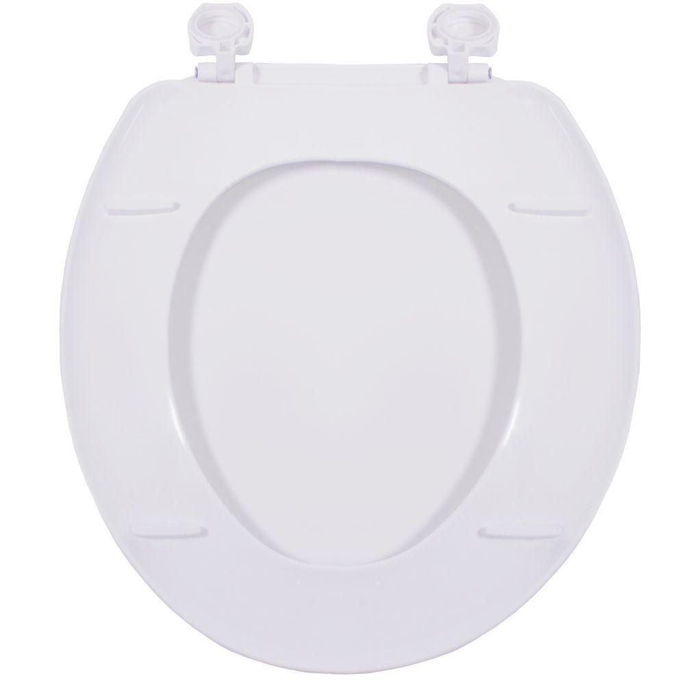Assento Oval em Polipropileno Atlas Branco  - Comercial Tuan Materiais para Construção