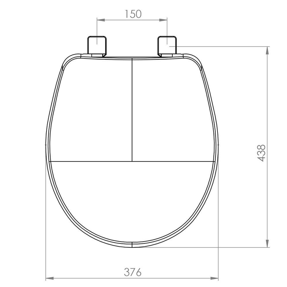 Assento Oval em Polipropileno Evolution Soft Close Biscuit/Pergamon  - Comercial Tuan Materiais para Construção