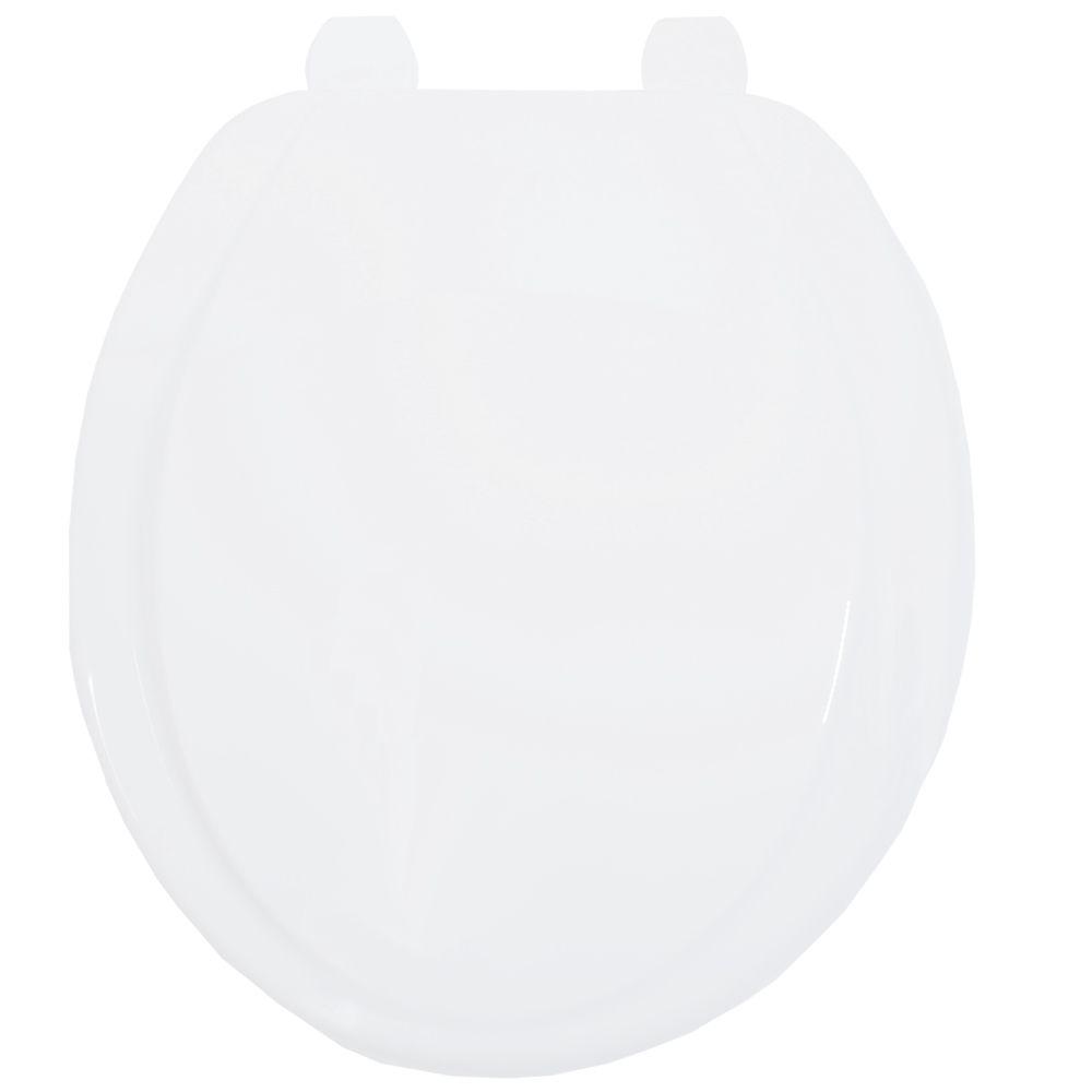 Assento Oval em Polipropileno Plus Care Branco  - Comercial Tuan Materiais para Construção