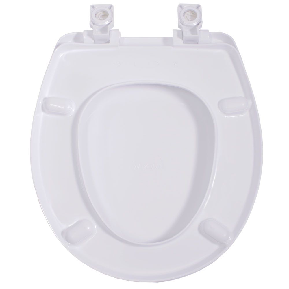 Assento Oval em Resina Termofixa  Evolution Soft Close Branco  - Comercial Tuan Materiais para Construção