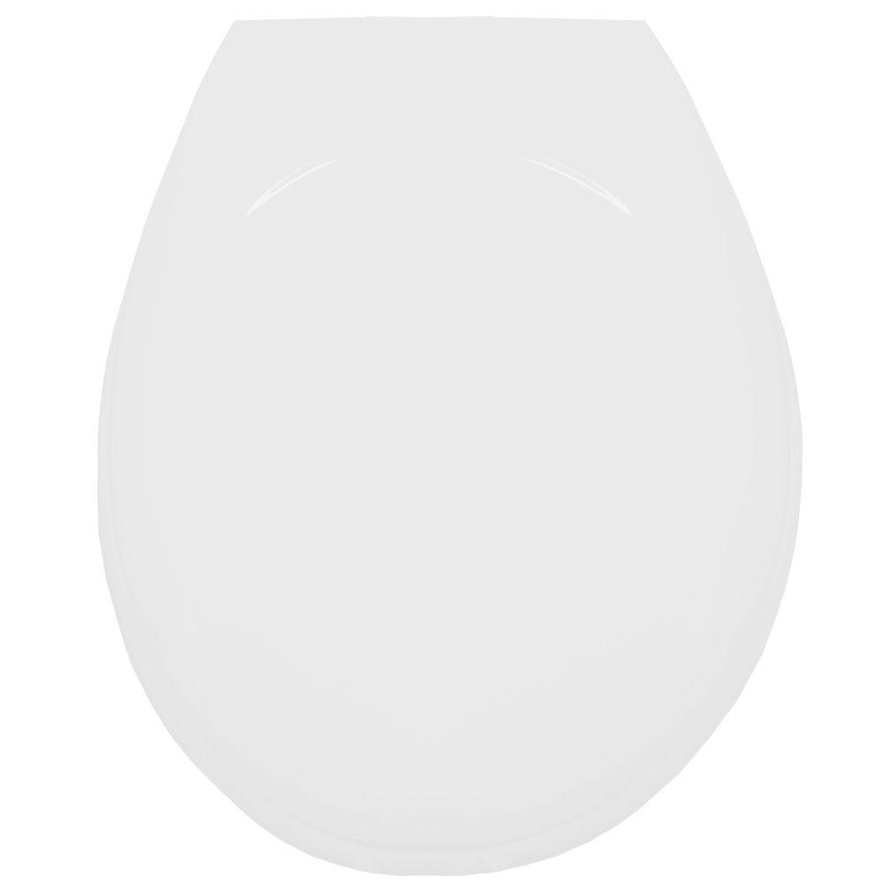 Assento Oval em Resina Termofixa Luxo Branco  - Comercial Tuan Materiais para Construção