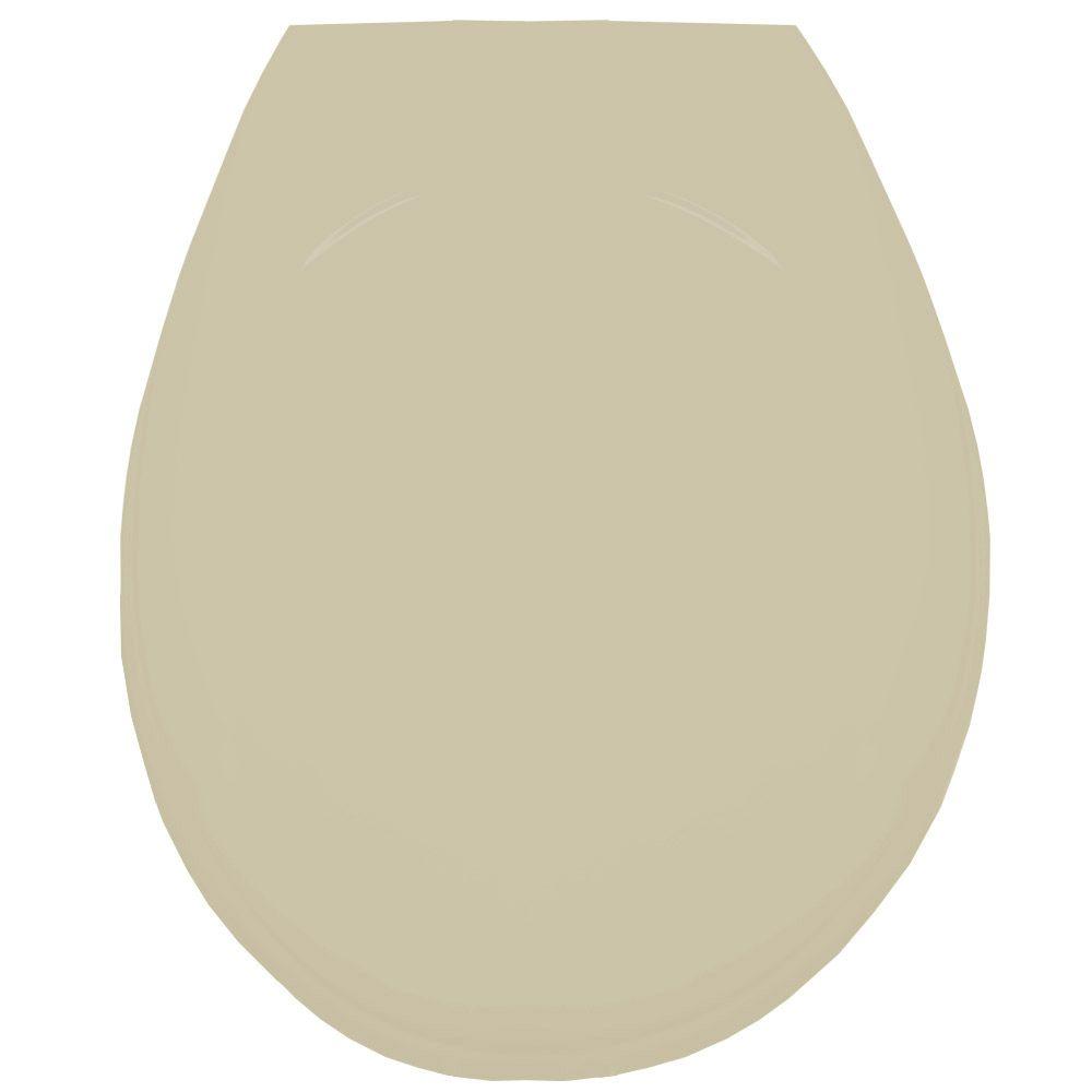 Assento Oval em Resina Termofixa Luxo Creme/Bone   - Comercial Tuan Materiais para Construção