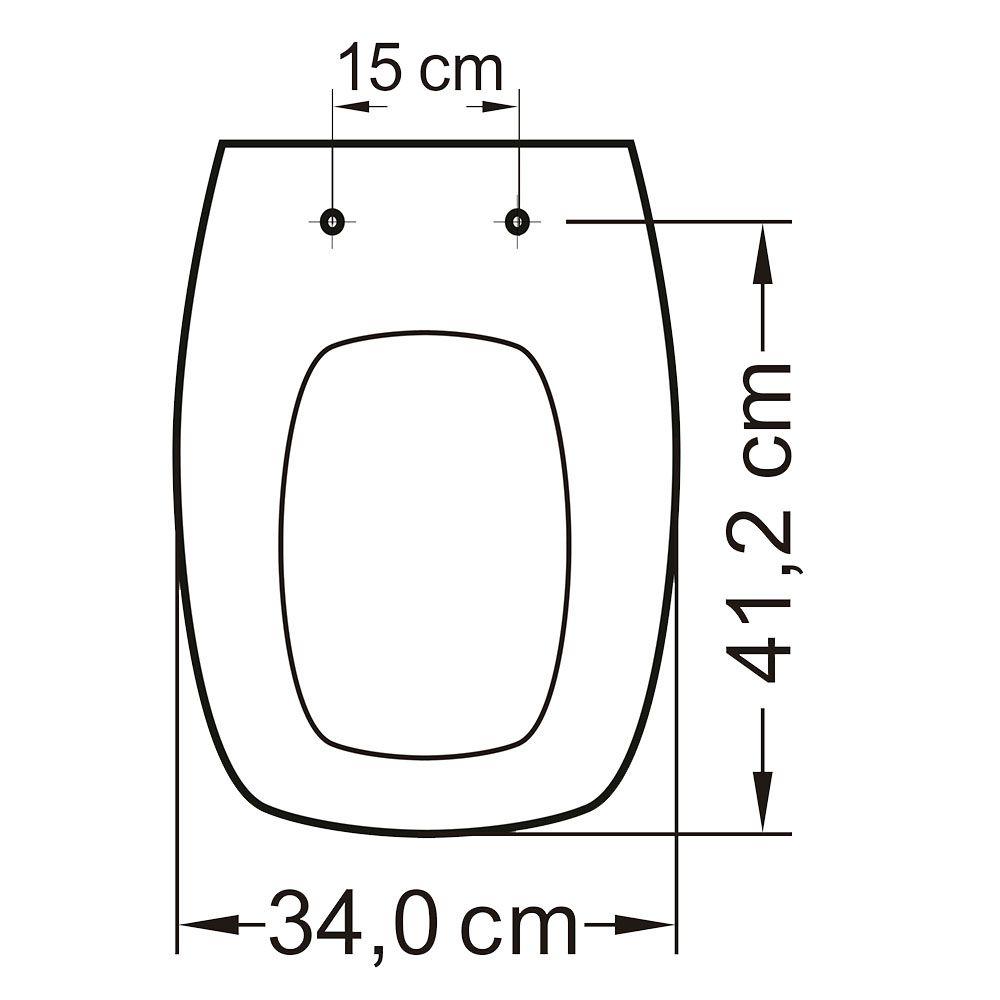 Assento Primula Plus/Amarilis/Laguna Pp S.Cl Branco  - Comercial Tuan Materiais para Construção