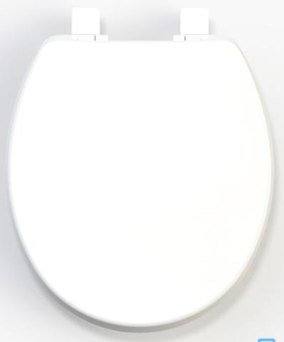 Assento Sanitário Branco para linhas Universais/Ovais Solution em Polipropileno Tupan  - Comercial Tuan Materiais para Construção