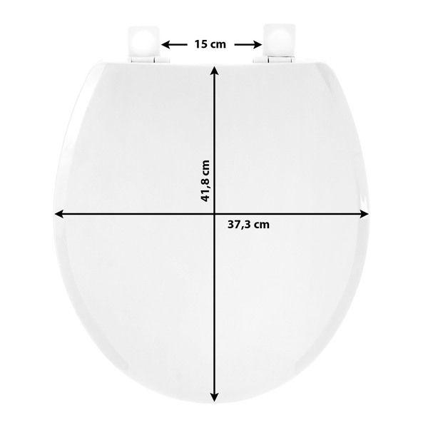 Assento Sanitário Convencional Polipropileno Branco Fechamento Suave Tupan  - Comercial Tuan Materiais para Construção