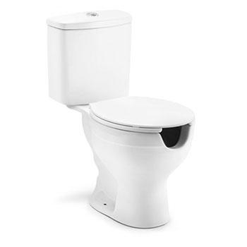 Bacia com caixa acoplada Acesso Plus com Abertura Branca Incepa  - Comercial Tuan Materiais para Construção