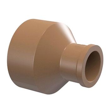 Bucha de Redução Longa Marrom PVC Soldável Tigre  - Comercial Tuan Materiais para Construção