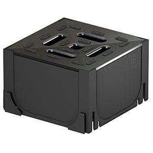 Caixa com Grelha 100x15cm Galvanizado ACO  - Comercial Tuan Materiais para Construção