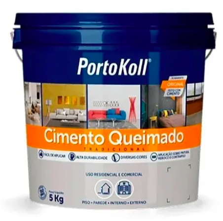Cimento Queimado 5Kg Portokoll  - Comercial Tuan Materiais para Construção