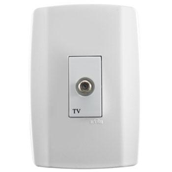 Conjunto 1 Tomada para Antena de TV 4x2 80633 Ilumi  - Comercial Tuan Materiais para Construção