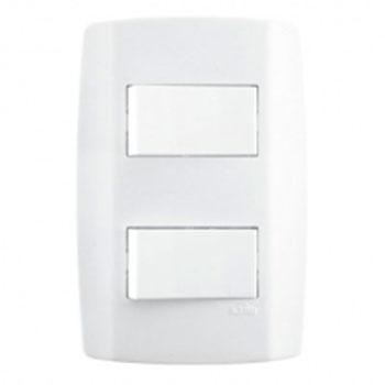 Conjunto 2 Interruptores Simples 4x2 8018 Ilumi  - Comercial Tuan Materiais para Construção