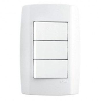 Conjunto 3 Interruptores Paralelo 4x2 8027 Ilumi   - Comercial Tuan Materiais para Construção