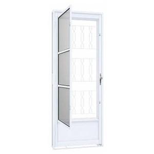 Porta de Giro com Grade Mosaico 215x80cm Riobras  - Comercial Tuan Materiais para Construção