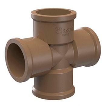 Cruzeta Marrom PVC Soldável Tigre  - Comercial Tuan Materiais para Construção