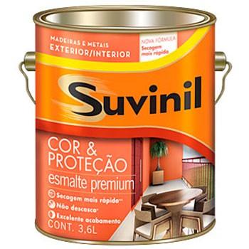 Esmalte Premium Brilhante 3,6 Litros Branco Suvinil  - Comercial Tuan Materiais para Construção