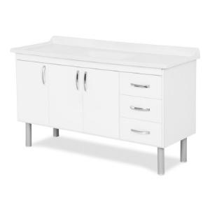 Gabinete Branco 144cm  Tóquio Ref.539402 A.J. Rorato  - Comercial Tuan Materiais para Construção