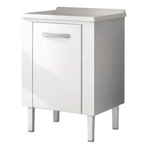 Gabinete Branco para Lavanderia em Aço Simples 60x60cm HB  - Comercial Tuan Materiais para Construção