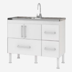 Gabinete para Cozinha 1,50m com Gavetão Bari MGM  - Comercial Tuan Materiais para Construção