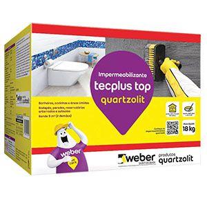 Impermeabilizante Tecplus Top 18Kg Quartzolit  - Comercial Tuan Materiais para Construção