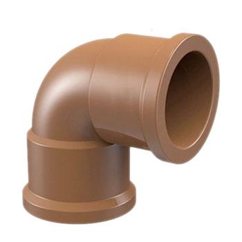 Joelho 90° Marrom PVC Soldável Amanco  - Comercial Tuan Materiais para Construção