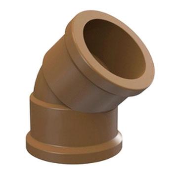 Joelho 45° Marrom PVC Soldável Tigre  - Comercial Tuan Materiais para Construção