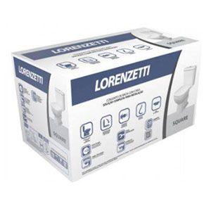 Kit Bacia Branca 3/6 litros com Caixa Acoplada + Assento + Conj. Fixação Square Lorenzetti  - Comercial Tuan Materiais para Construção