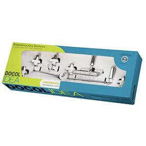 Kit de Acessórios para Banheiro 5 peças Idea Docol  - Comercial Tuan Materiais para Construção