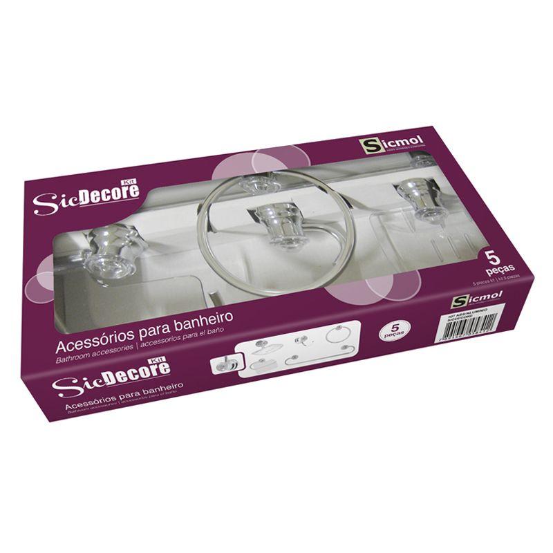 Kit para Banheiro Sicdecore Sicmol  - Comercial Tuan Materiais para Construção