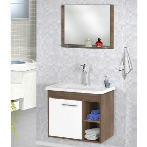 Kit Toucador + Espelho 60cm Florence Várias Cores MM  - Comercial Tuan Materiais para Construção