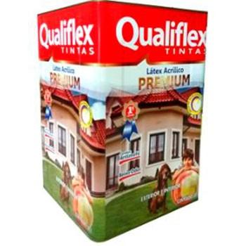 Latex 18 litros Acrílico Premium Branco Qualiflex  - Comercial Tuan Materiais para Construção
