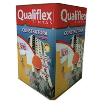Latex Branco 18 litros Interno e Externo Construtora Qualiflex  - Comercial Tuan Materiais para Construção