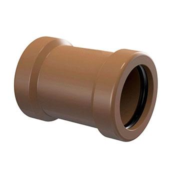 Luva de Correr Marrom PVC Soldável Amanco  - Comercial Tuan Materiais para Construção