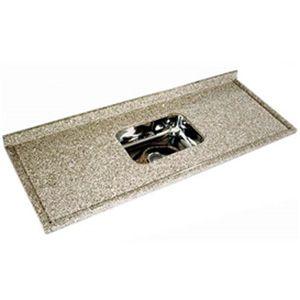Pia de Granito Arabesco Standard com Cuba Inox 1,50x0,56m LG Granitos  - Comercial Tuan Materiais para Construção