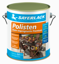 Polisten Transparente lata 3,6 litros  - Comercial Tuan Materiais para Construção