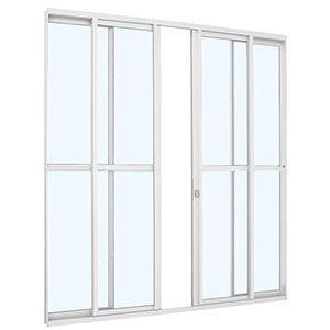 Porta de Correr 4 Folhas 216x200cm Linha AlumiSlim Sasazaki  - Comercial Tuan Materiais para Construção