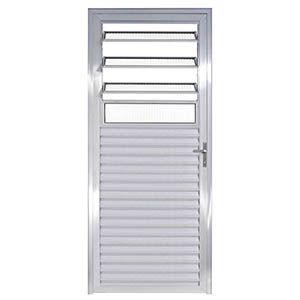 Porta Mista Basculante de Alumínio 210x80cm D/E NA com Vidro Esquadrivax  - Comercial Tuan Materiais para Construção