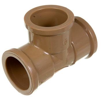 Tê Marrom PVC Soldável Amanco  - Comercial Tuan Materiais para Construção