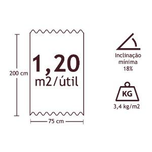 Telha 2,0x0,75m Clássica Fit Vermelha Onduline  - Comercial Tuan Materiais para Construção