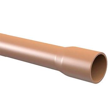 Tubo Marrom PVC Soldável 6 metros Amanco  - Comercial Tuan Materiais para Construção